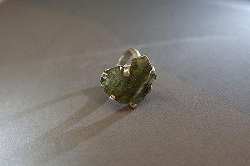 捷克隕石925銀戒指2