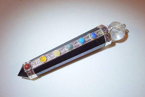 黑碧璽七輪晶石治療棒2