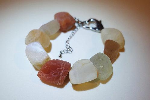 Handmade Moonstone Rough Bracelet