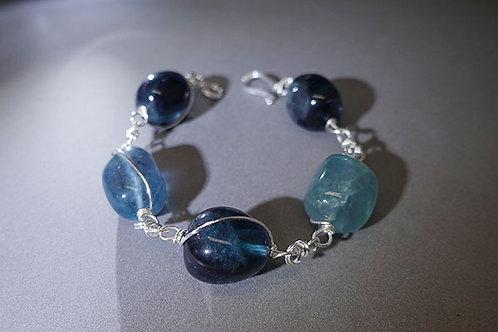 Handmade Blue Fluorite Bracelet