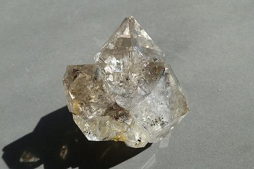 赫基蒙鑽石(閃靈鑽)晶簇#1