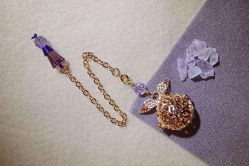 紫鋰輝碎石靈擺
