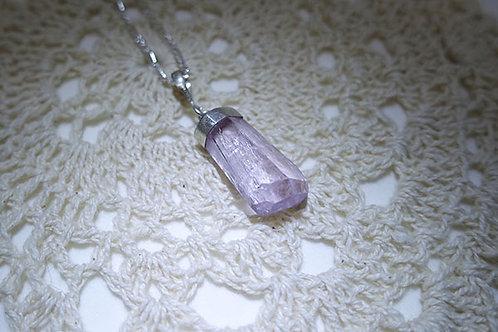 紫鋰輝石925銀吊墜連頸鍊2