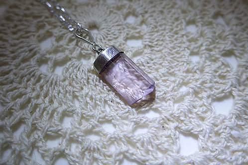 紫鋰輝石925銀吊墜連頸鍊1