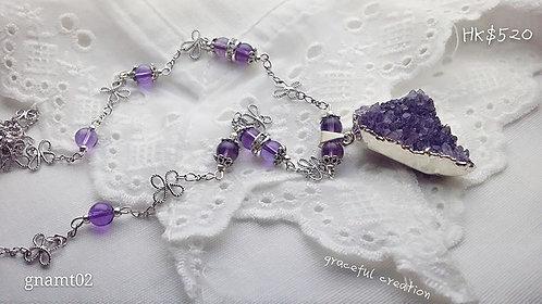 紫水晶原石頸鏈