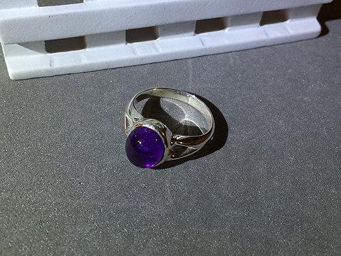 紫水晶銀戒指(6.5號)