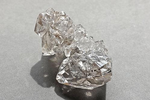 赫基蒙鑽石(閃靈鑽)晶簇#2