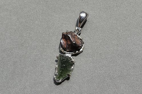 「雙隕石」銀吊墜