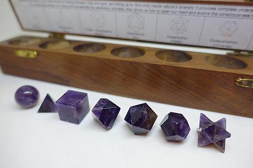 神聖幾何立方體套裝 - 紫晶
