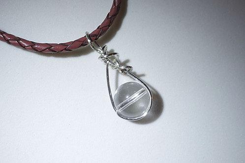 白水晶皮手繩