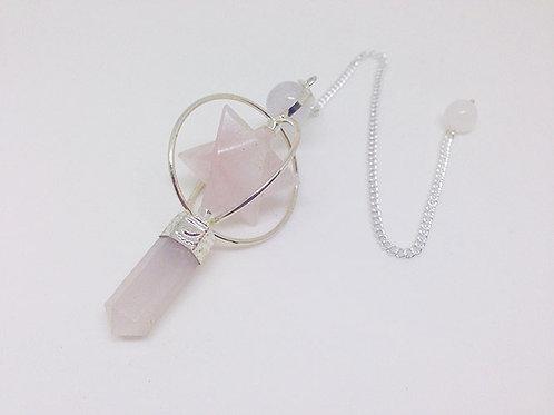 梅爾卡巴晶石靈擺-粉晶
