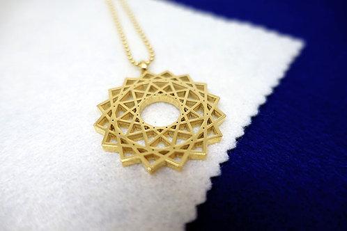 創造力量符號頸鏈(金色)