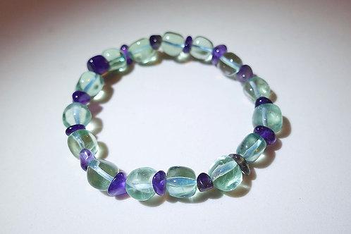 螢石紫水晶手串