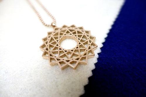 創造力量符號頸鏈(玫瑰金色)