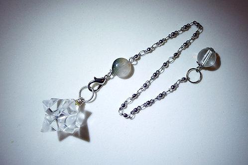 白水晶梅爾卡巴靈擺手鏈