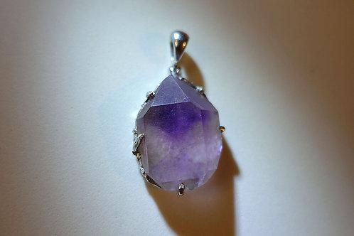 沙漏紫水晶銀吊墜