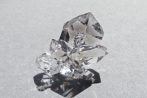 赫基蒙鑽石(閃靈鑽)晶簇#3