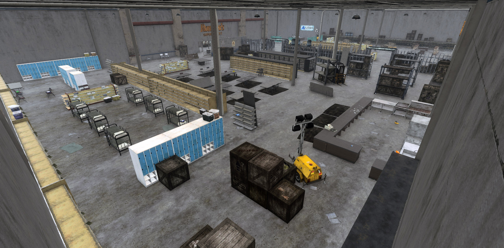 Emerald Hydra, Interior Barracks & Mess Hall