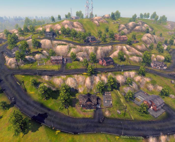Hillside Villas, Aerial