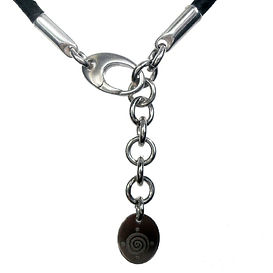 Sterling lobster clasp with extension ch
