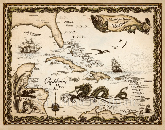 Islands of the Bahamas and West Indies