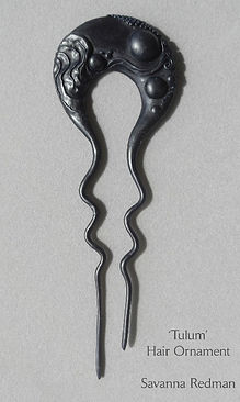wax sculpture for sterling hair pin by S