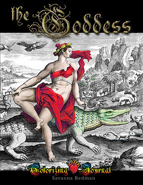 Adult Journal and Coloring book of Greek & Roman Goddesses