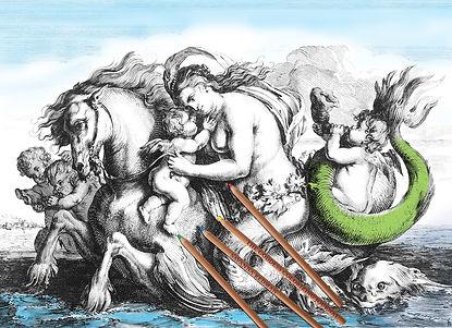 Drawing -Triumph of Galatea