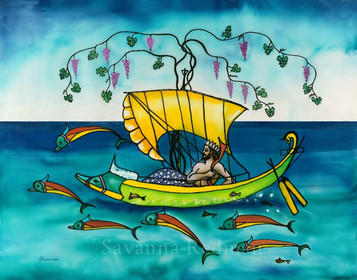 Dionysus Sailing with Dolphins