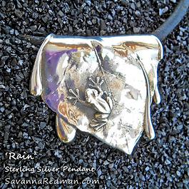 Rain- sterling silver pendant by Savanna