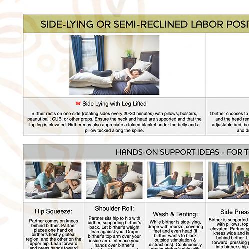 Side-Lying & Semi-Reclined Labor Card