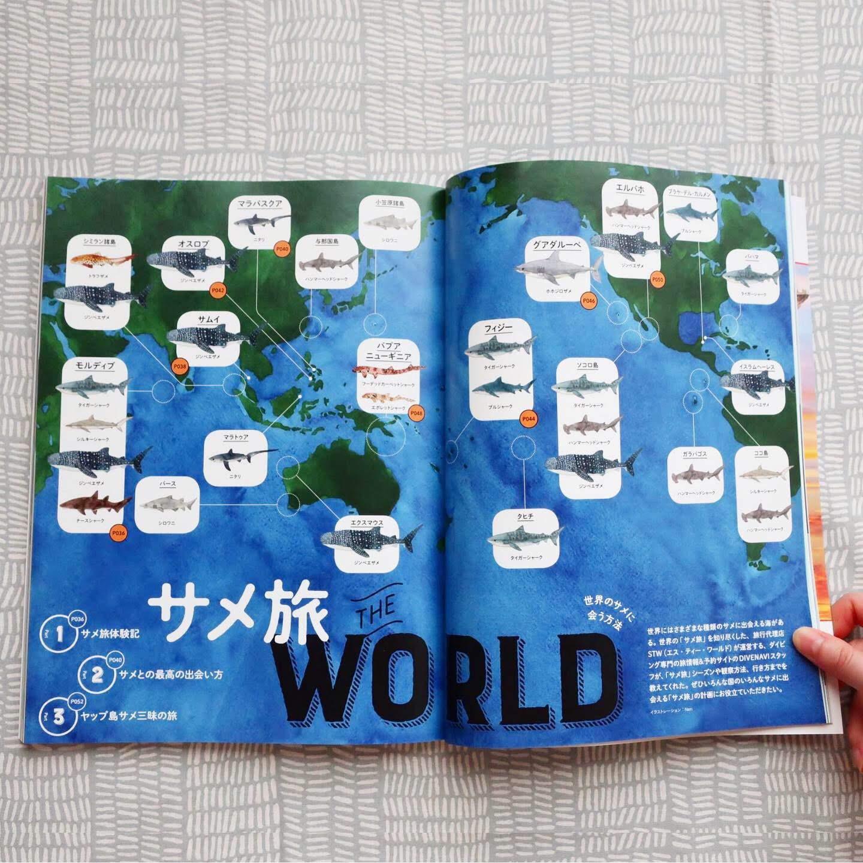 DIVER 9月号「サメ旅」