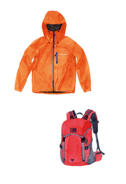 Jacket and backpack