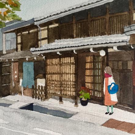 高山、古い町並み