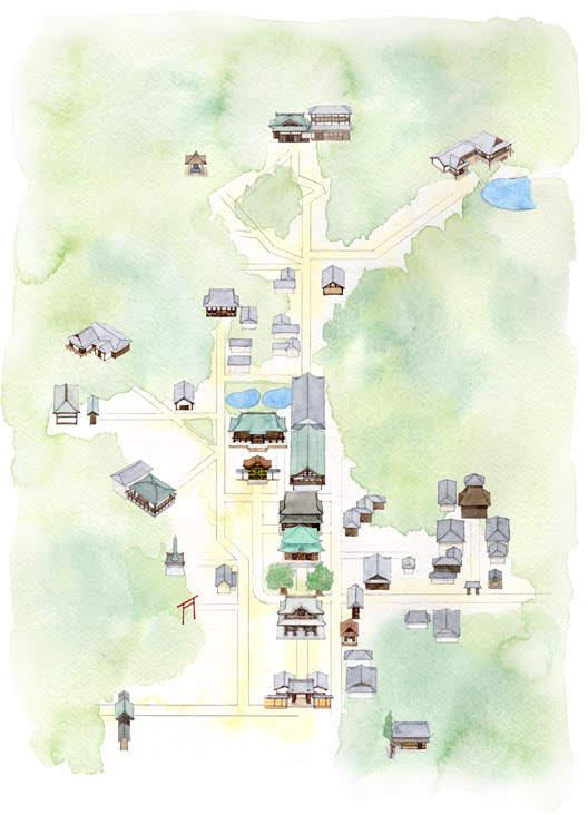 建長寺境内マップ