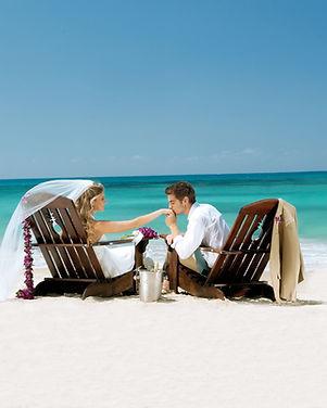 Beach Bride and Groom Destination Weddin