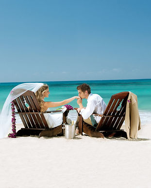 Beach Bride and Groom Destination Weddin