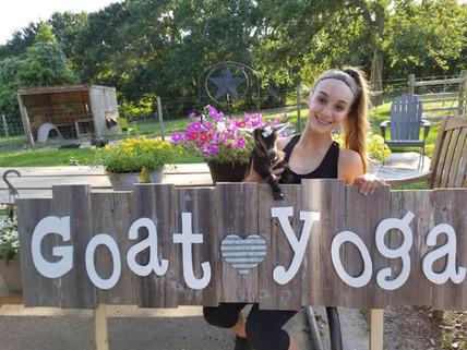 Goat Yoga Katy Sign