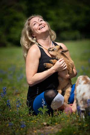 Goat Yoga Houston with Kiss
