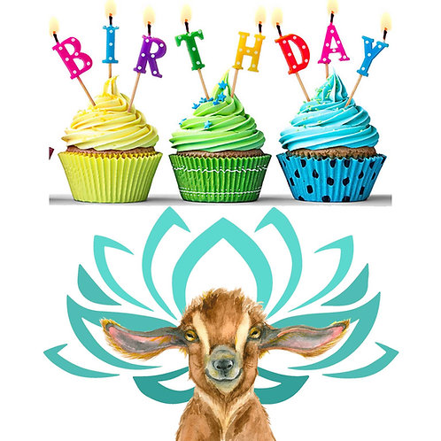 Goat Yoga Birthday Party Gift Card