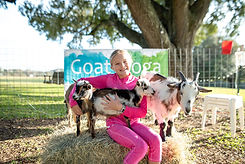 girl with goats in katy
