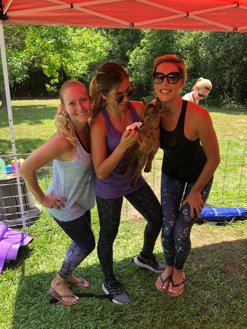 Goat Yoga Katy Friends