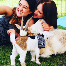 Goat Yoga Houston Family