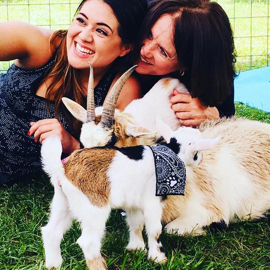 Goat Yoga Houston Family