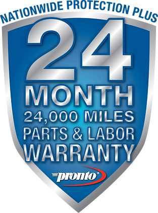 Logo 24 month, 24,000 mile warranty.