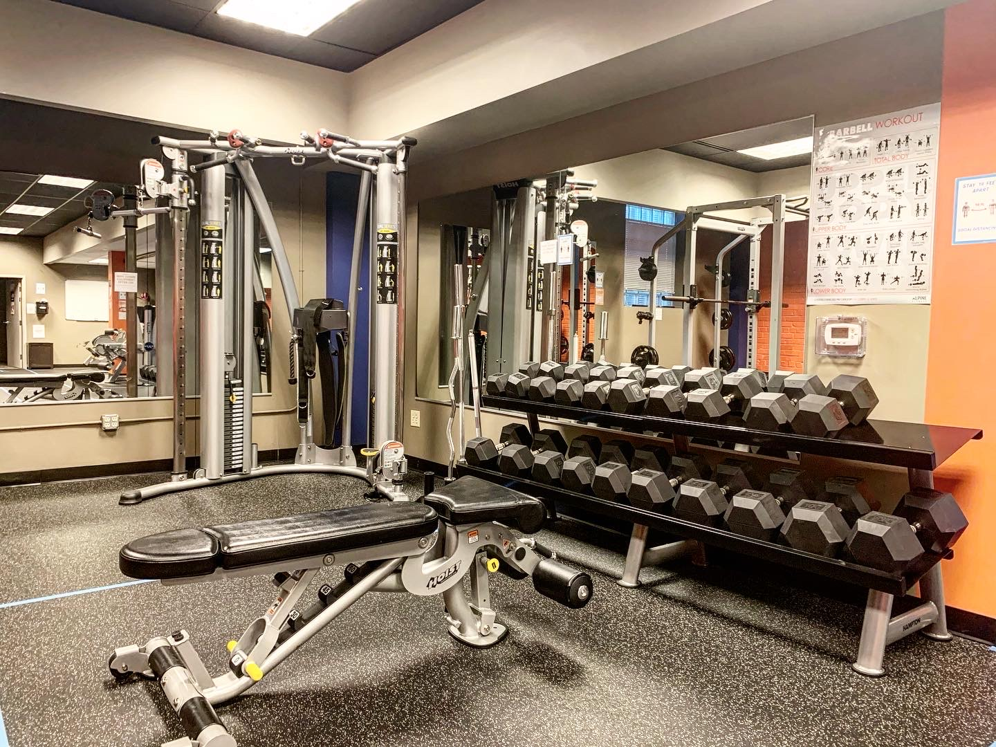 Cable equipment and dumbbells