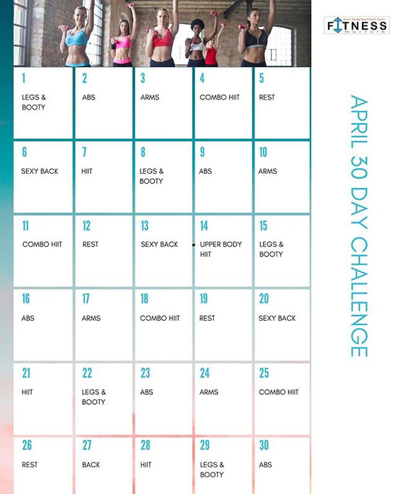 April's 30 Day Challenge Home Workout!