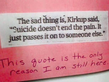 SUICIDE LECTURE