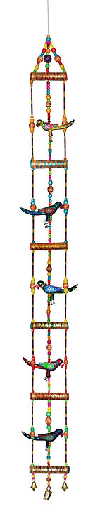 Super Large 5FT Ladder Style Hanging with Parrot