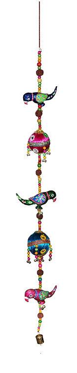 2 Threaded Balls 3 Parrot Hangings
